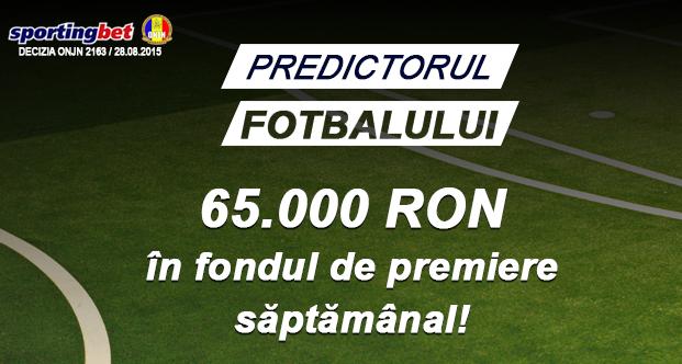 Predictorul Fotbalului Sportingbet – ia o parte din cei 65.000 RON in fiecare saptamana