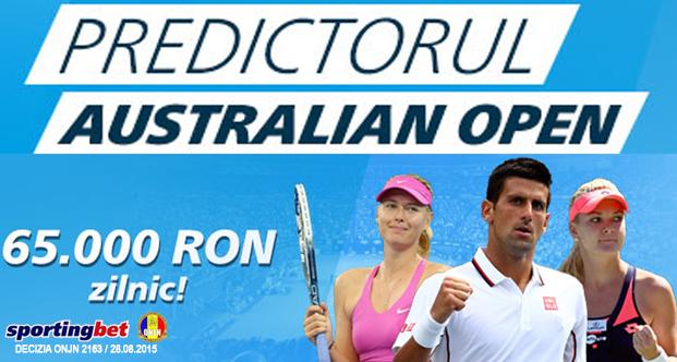 65.000 RON in fiecare zi la Predictorul Australian Open