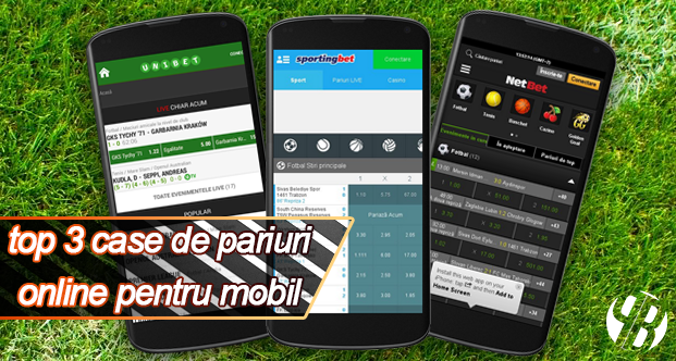 Top 3 case de pariuri online la care putem paria de pe mobil