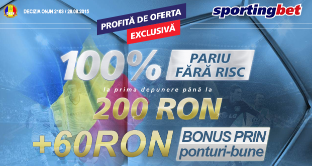 OFERTA EXCLUSIVA: Depui 40 RON si primesti 60 RON bonus
