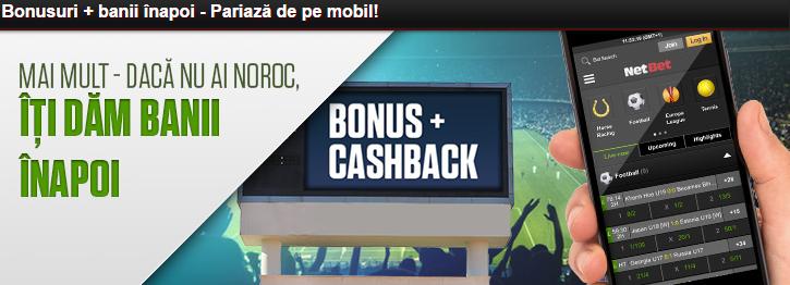 Bonus pariuri de pe mobil Netbet