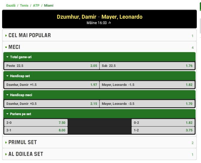 Damir Dzhumhur vs Leonardo Mayer