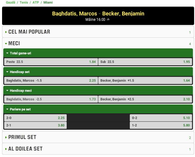 Marcos Baghdatis vs Benjamin Becker