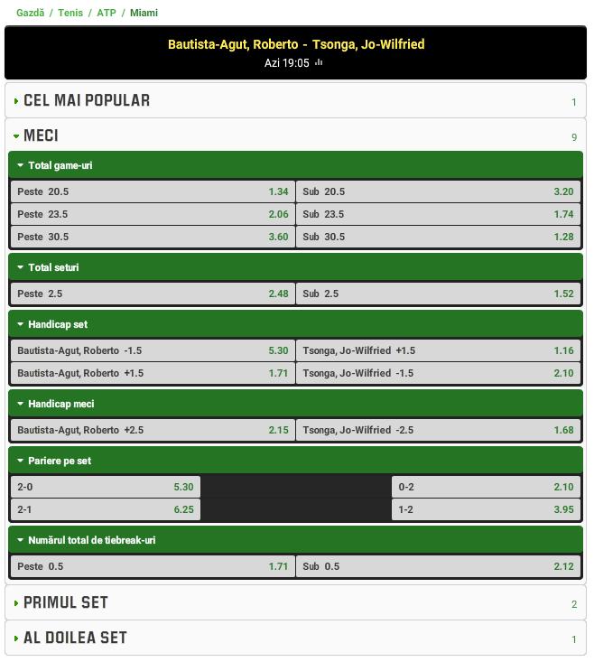 Roberto Bautista-Agut vs Jo-Wilfried Tsonga