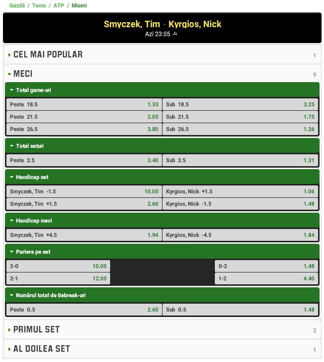 Tim Smyczek vs Nick Kyrgios