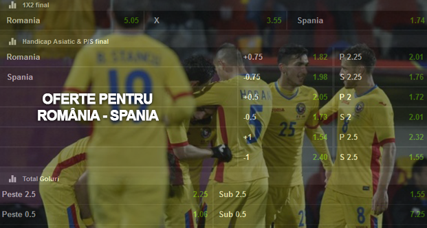 Top promotii si bonusuri la pariuri online pentru Romania – Spania