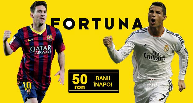 50 RON banii inapoi la Fortuna pentru El Clasico