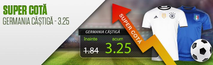Germania vs. Anglia : Germania sa castige – cota 3.25
