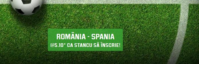 Top promotii si bonusuri la pariuri online pentru Romania - Spania