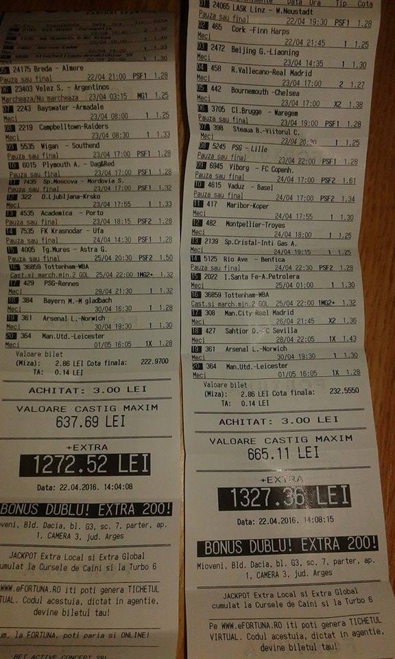 Bilete Pariuri : Madalin propune 2 bilete bonus dublu !