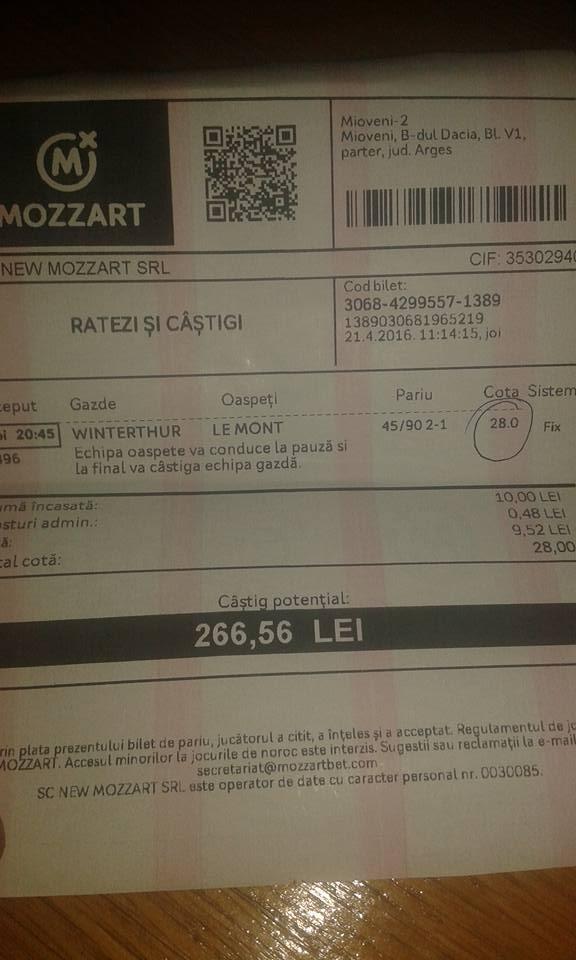 Bilete Pariuri : Madalin a fost inspirat si castiga din nou !