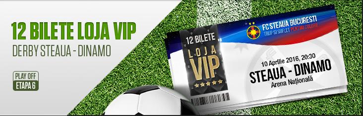 Castiga bilete VIP la Steaua vs Dinamo