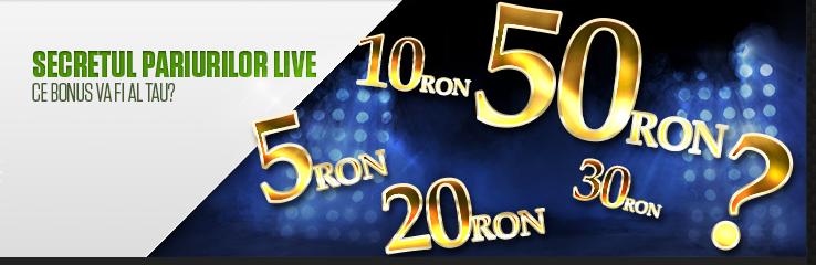 Castiga un bonus surpriza in acest weekend la pariuri live
