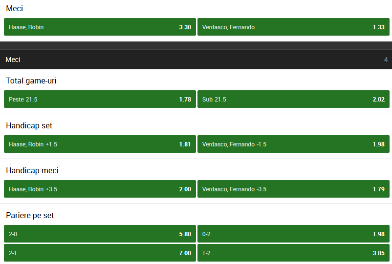 Robin Haase vs Fernando Verdasco