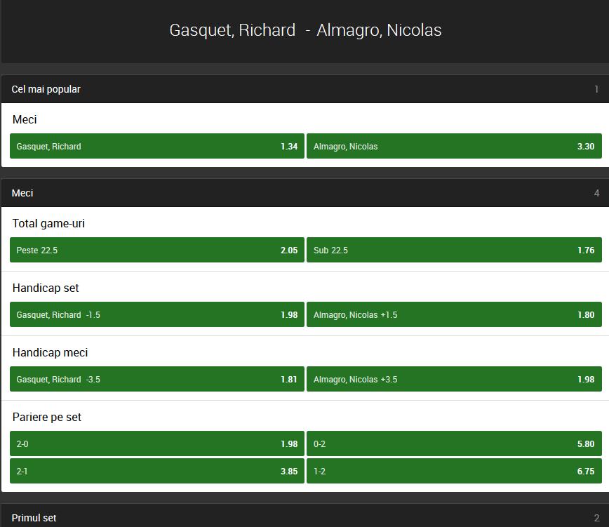Richard Gasquet vs Nicolas Almagro