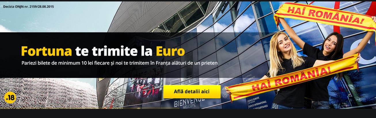 Fortuna te trimite la EURO 2016