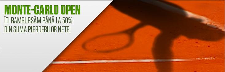 Rambursare bani tenis Monte Carlo