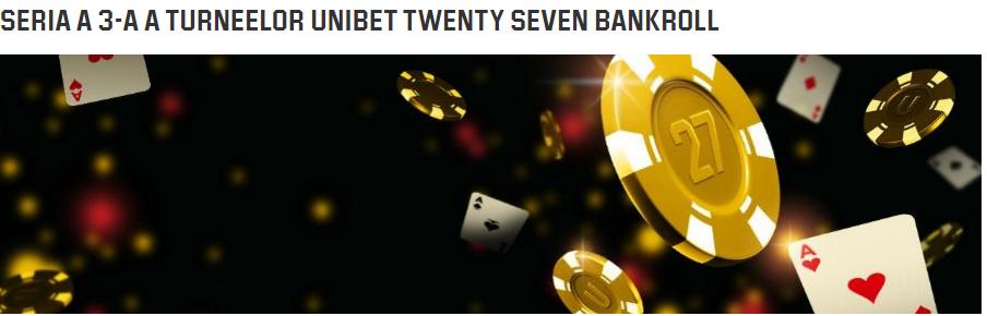 Serie turnee Twenty Seven Bankroll poker Unibet