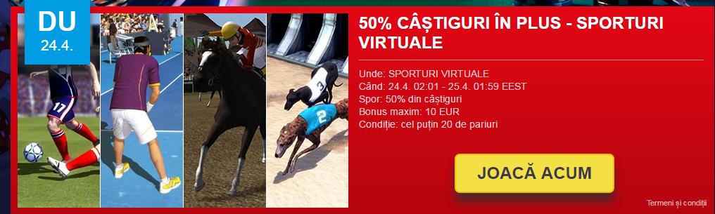 Castiguri in plus sporturi virtuale Sportingbet
