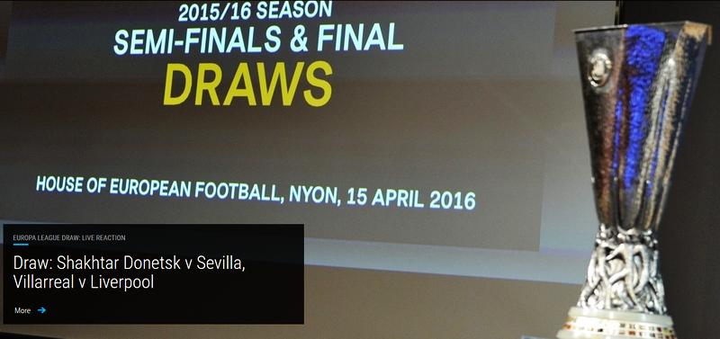 Europa League – semifinale: Șahtior-Sevilla şi Villarreal-Liverpool