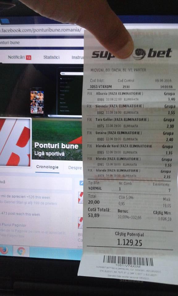 Bilete Pariuri : Madalin propune un bilet special pentru Euro 2016 !