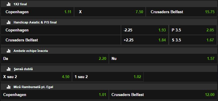 FC Copenhaga - Crusaders