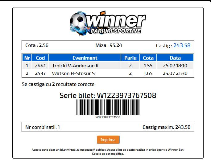 Winner Bilet