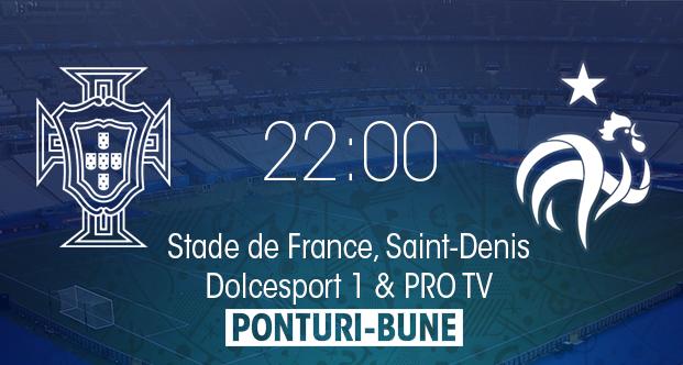 Ponturi pariuri online pentru finala EURO 2016 dintre Portugalia si Franta