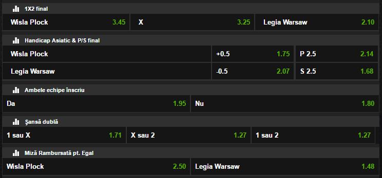 Wisla Plock - Legia Varsovia