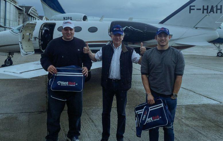 Pentru trei microbisti norocosi, Netbet e sinonim cu o plimbare cu avionul privat