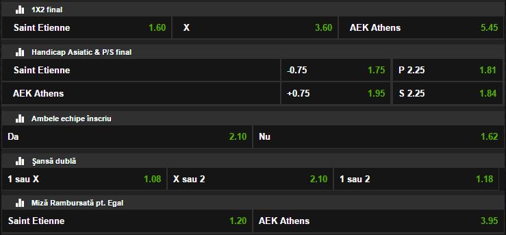 St. Etienne - AEK Atena