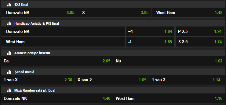 Domzale - West Ham