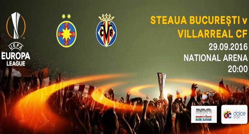 Ponturi pariuri Steaua Bucureşti – Villarreal CF – Europa League