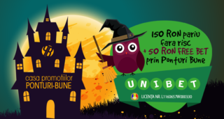 Unibet exclusiv: 150 RON pariu fara risc plus 50 RON FREE BET