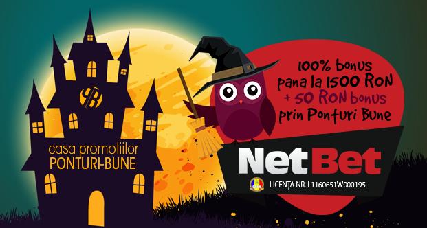 Netbet exclusiv: 1500 RON bonus plus 50 RON extra