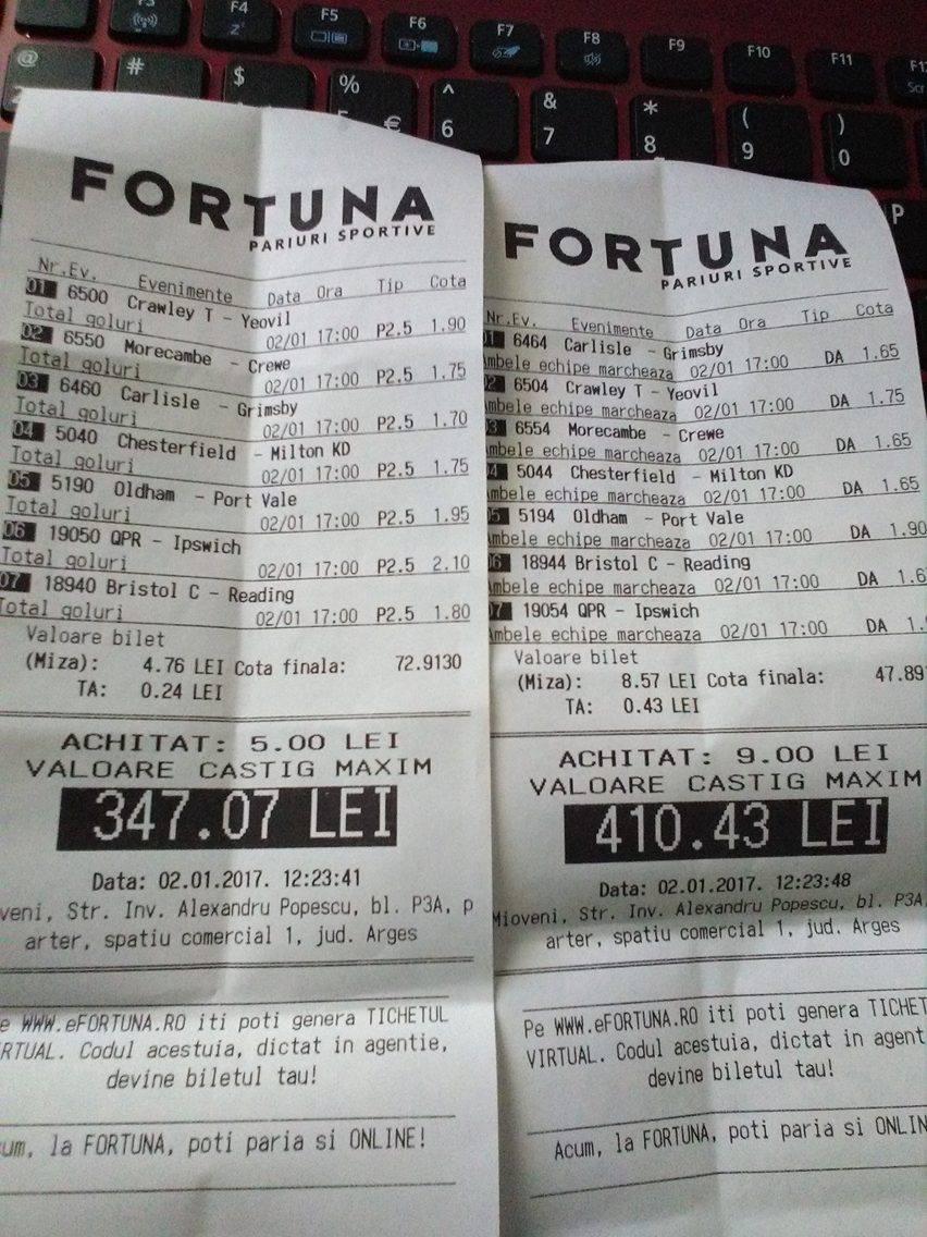Bilete Pariuri : Madalin propune 2 bilete over 2,5 goluri si GG !