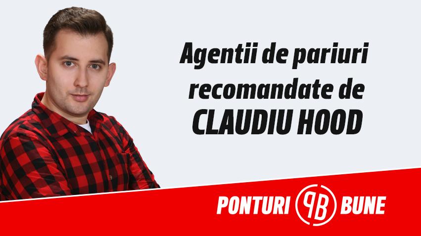 Agentii de pariuri recomandate de Claudiu Hood