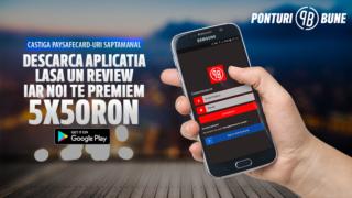 CONCURS | Descarca aplicatia Ponturi Bune Romania si castiga 50 RON saptamanal