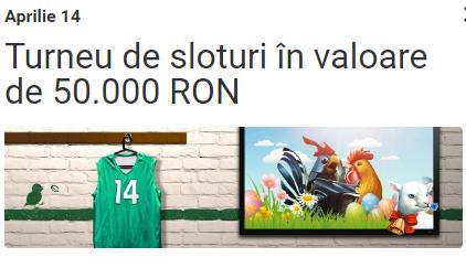 Participa la turneul de sloturi cu premii de 50000 RON