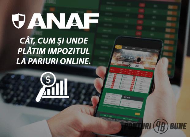 Cat, cum si unde platim impozitul la ANAF pentru pariuri in 2017