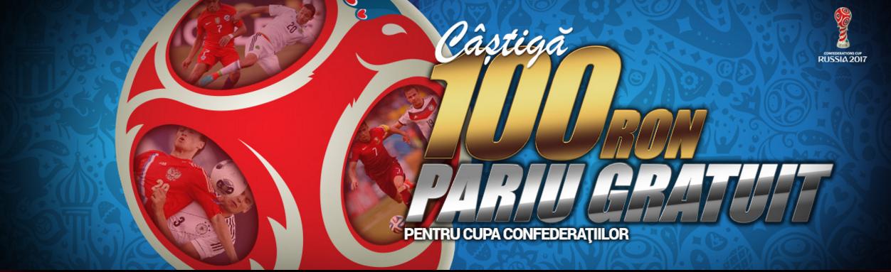 Castiga garantat un freebet de 100 RON la Cupa Confederatiilor