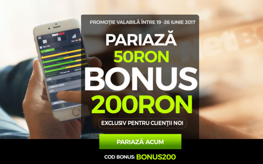 Pariezi 50 RON si primesti 200 RON bonus