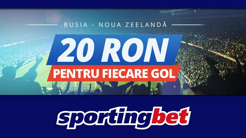 20 RON FREEBET pentru fiecare gol in Rusia – Noua Zeelanda