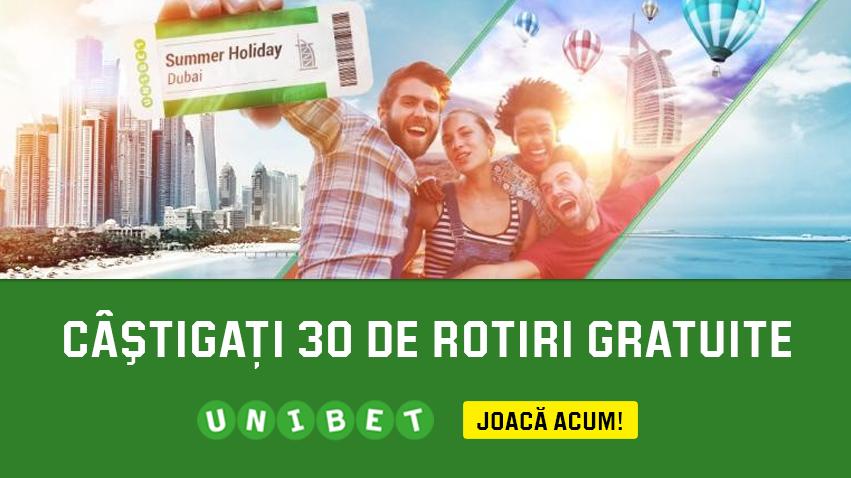 Joaca in casino-ul Unibet si castiga 30 de rotiri gratuite