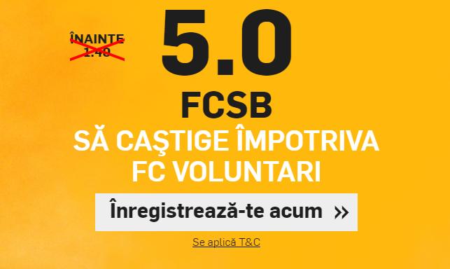 Cota 5 pentru FCSB in etapa inaugurala din Liga 1