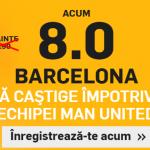 Cota mult marita pentru Barcelona in meciul cu Manchester United