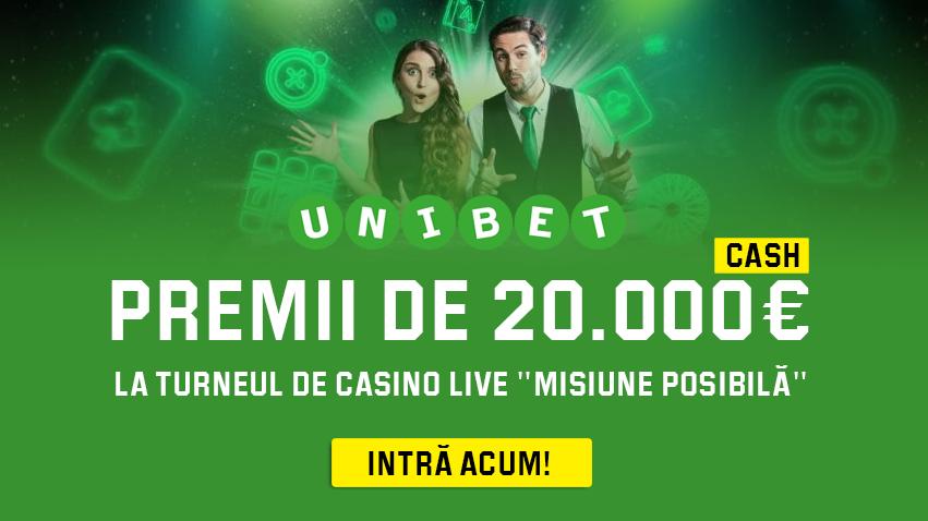 Castiga o parte din premiile cash de 20.000 euro la Unibet Casino