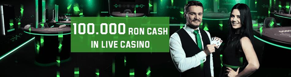 Joaca in casino si castiga o parte din 100.000 RON in bani reali
