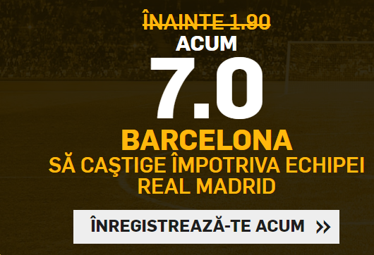 Profita de cota 7 pentru victoria Barcelonei cu Real Madrid