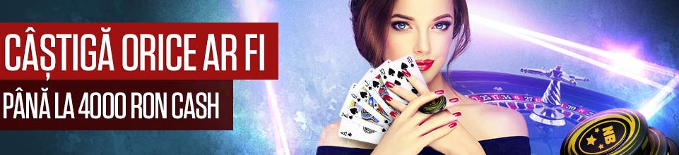 Castiga maxim 4000 RON la Live Casino
